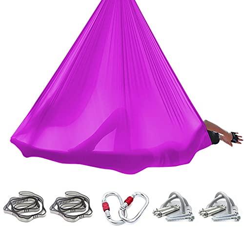 GLYIG Premium Aerial Yoga Hängematte - Aerial Yoga Swing Set - Antigravity Aerial Silks - Flying Yoga Sling Inversion Ausrüstung für Aerial Yoga Hängematte, Inversion Pilates, Sensory Swing