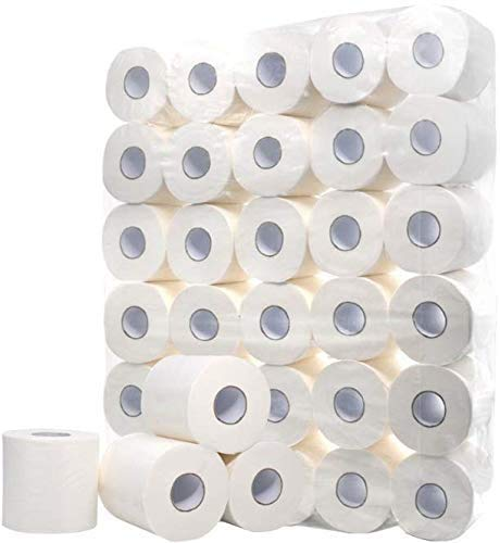 Defacto Toilettenpapier Klopapier WC-Papier 3-Lagig Zellstoff Weiß Weich FSC® Lizenz (128)