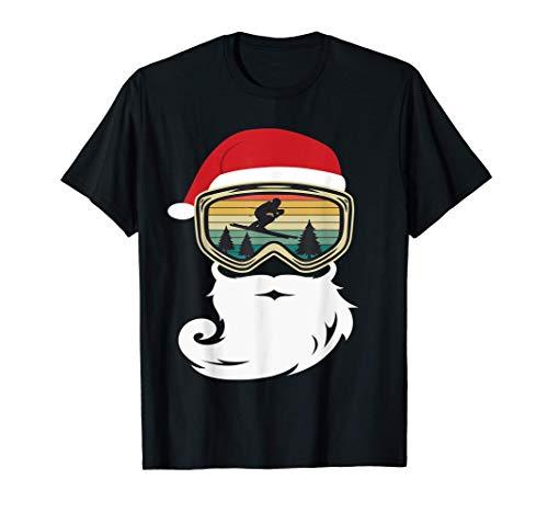 sci Natale invernali Sciatore regalo divertente Maglietta