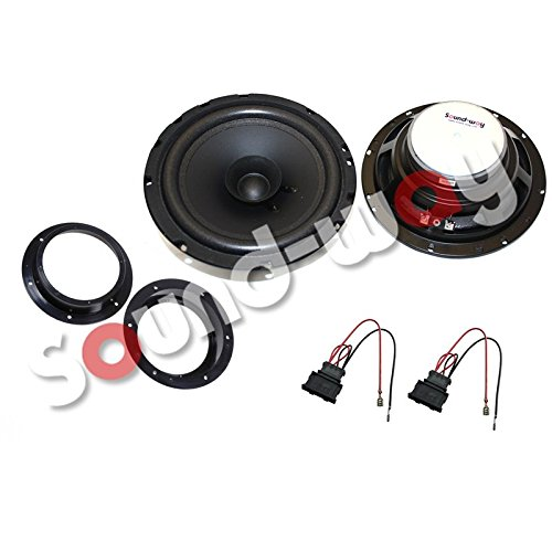 Sound-way Luidsprekers Autoradio Speakers 16,5 cm 120 Watt compatibel met Volkswagen Golf V 5, Touran, Jetta, Transporter T5