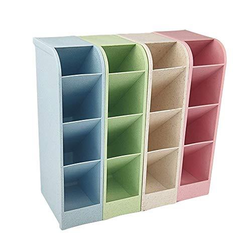 LUCY WEI 4 Stück Stiftehalter Organizer,Schreibtisch Stifteköcher,Schreibtisch Supplies Organisatoren für Büro,Schule,Heimbedarf(Blau+Beige+Grün+Rosa)