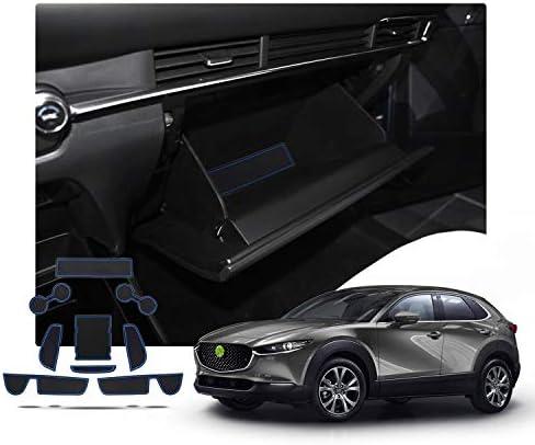 Ruiya Mazda Cx 30 Antirutschmatten Auto Innere Türschlitz Arm Box Aufbewahrung Matten Pads Weiß Auto