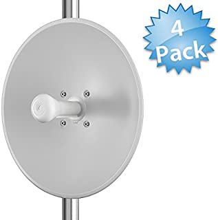 Cambium Networks [4-Pack] ePMP 5 GHz Force 200 High Performance Radio + High-Gain Dish Antenna - Outdoor CPE - Wireless Subscriber Module - 200 Mbps Throughput - (FCC) - (C058900C062A-4)