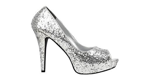 Boland Damen Allure Heels, Silber, 38 EU