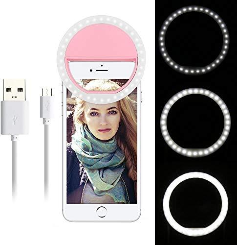 WXJZ Selfie Licht, LED Ring Lamp Cirkel Aanvullende Verlichting 3 Niveaus Van Licht Helderheid Nacht Selfie Verbetering Voor Telefoons