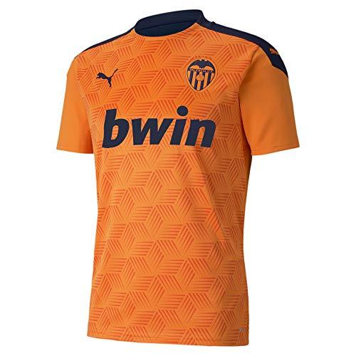PUMA Valencia CF Temporada 2020/21-Away Shirt Replica PE Camiseta Segunda Equipación, Unisex, Vibrant Orange/Peacoat, XS