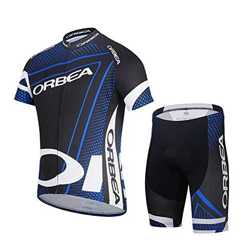 STEPANZU Ropa Ciclismo Verano Hombre-Mujer MTB Maillot + Culote Pantalones Cortos Conjunto...
