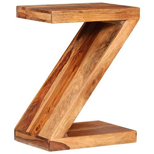GoodWork4UEu Mesa de Centro con Forma de Z de Madera de Palisandro Maciza Mobiliario Mesas Mesas Decorativas Mesas auxiliares