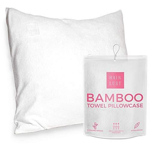 HairLust bamboe handdoek kussensloop voor haar - Premium materialen - Gemaakt voor uw kussen - Milieuvriendelijk - Past op alle standaard (60x63/70 cm) kussens.