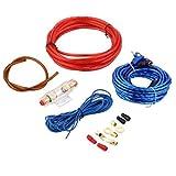 zhouweiwei 1 Set Amplificador de Potencia para automóvil Altavoz para automóvil Cables de woofer Kit de instalación de Amplificador para automóvil Subwoofer Línea de Conjunto con Fusible