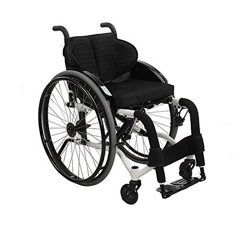 XJZHANG Self-propelled Sport Wheelchairs Lghtweight Folding Ergonomic Comfortable Armrest Swing Leg Rest 36/38/40cm Seat,Outdoor Sports,10.7kg
