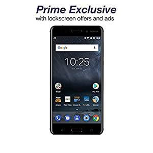 Nokia 6 - 32 GB - Unlocked (AT&T/T-Mobile) - Black - Prime Exclusive - with Lockscreen Offers & Ads