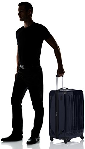 HAUPTSTADTKOFFER - Alex - Luggage Suitcase Hardside Spinner Trolley 4 Wheel Expandable, 75cm, black