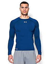 Under Armor Mens HG Sonic Compression Long Sleeve T-Shirt, White (White 100), XL