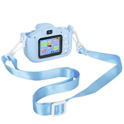 Shipenophy Cámara de fotografía Robusta ABS Cámara para niños de Doble cámara X5S 2.0IPS Compatible con inglés, japonés, Coreano y más de Diez Idiomas más(Blue)