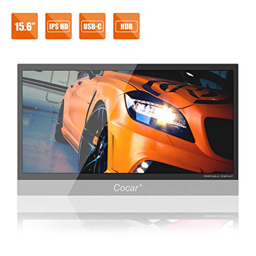 15.6' Portable Monitor Ultra-Thin IPS HDR Gaming Screen HDMI HD 1920x1080P Full-Featured USB-C...
