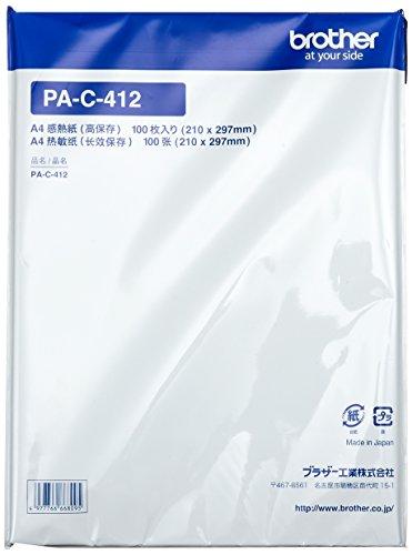 BROTHER PocketJet用A4高保存感熱紙(100枚入り) PA-C-412