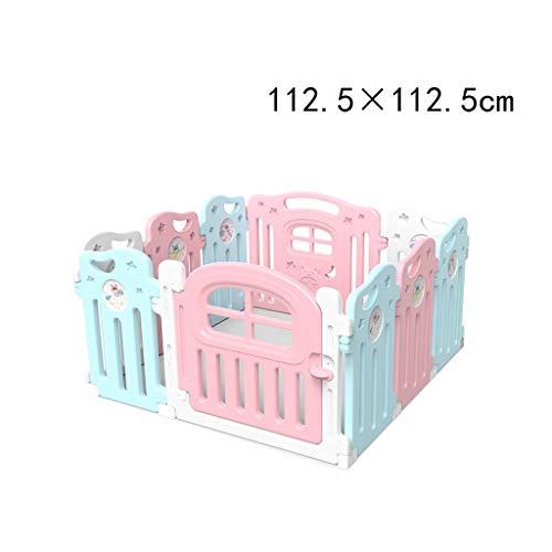 XXHDEE babyhek, speelbarrière voor kinderen, oprit, speelplaats binnen, voor hek, onbreekbaar, meerrijen