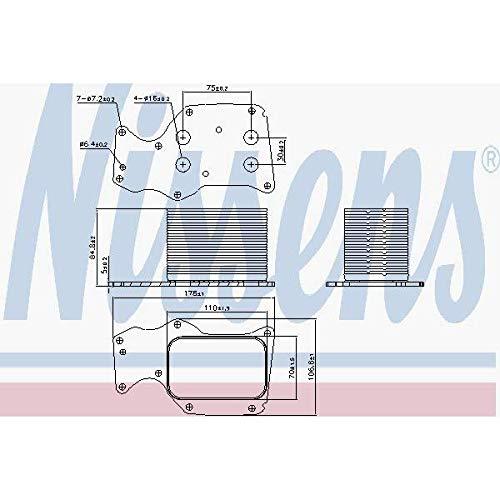 Nissens 90906 Radiateur d'huile de moteur