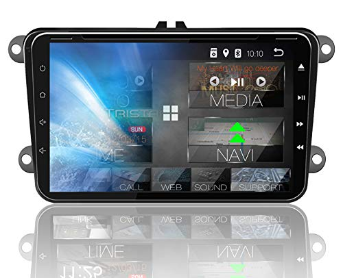 Tristan Auron BT2D7023VW Autoradio Android 8.1, 7'' Touchscreen I mit Navi I Freisprecheinrichtung I USB/SD I DAB+ I 2 DIN I kompatibel mit VW Seat Skoda