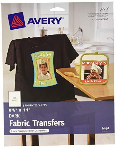Dark T-Shirt Transfers, Iron-On, 8.5 x 11, 5-Pack