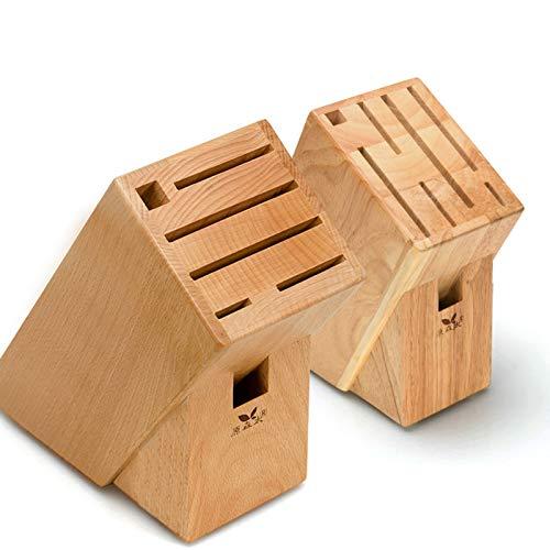 Portacuchillos De Madera Estante De Bambú Portacuchillos De Cocina Estante Cuchillos Cocina Estante De Almacenamiento De Cuchillos Multifunción Para El Hogar (Color madera)