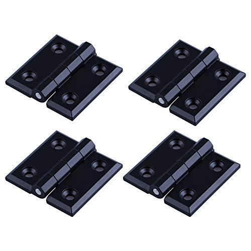 YOFASEN Bisagras Plegables - 4PCS Bisagras de Puerta de Hardware para Puerta de Armario Doméstico, Aleación de Zinc, Negro, 40 * 40 * 5mm