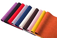 """✂Material - The leather is made of PU and the back of sheet is made of canvas fabric.The color of the surface and back is the same. ✂Size - Per Sheet 9"""" x 13"""" (23 cm x 34 cm). Each piece of leather has a thickness of about 1 mm. ✂Use - Easy to cut in..."""