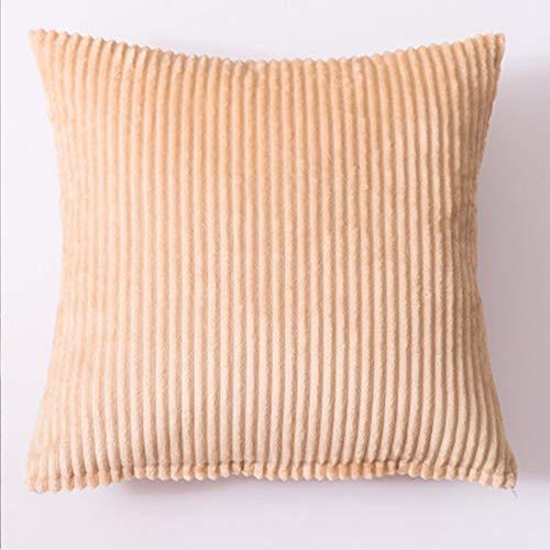 Almohada de color sólido para el hogar, sofá, almohada grande, accesorios para coche, almohada lumbar, simple, piel profunda, 40 x 40 cm