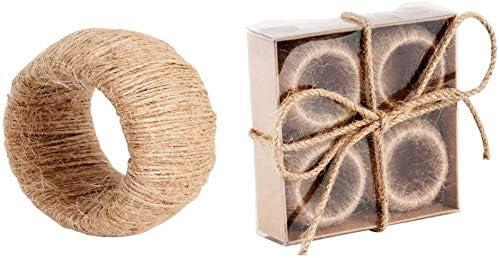 Nautical Napkin Rings Set Of favorite Jute Fashion R 4 -Burlap Ring