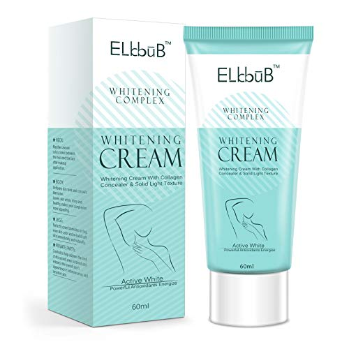 Intimate Skin Lightening Cream for Body, Bikini and Sensitive Areas - Skin Whitening Cream Contains Hydrolyzed collagen, Glycerol, Nano Titanium Dioxide 60ml / 2 oz (60 ml)
