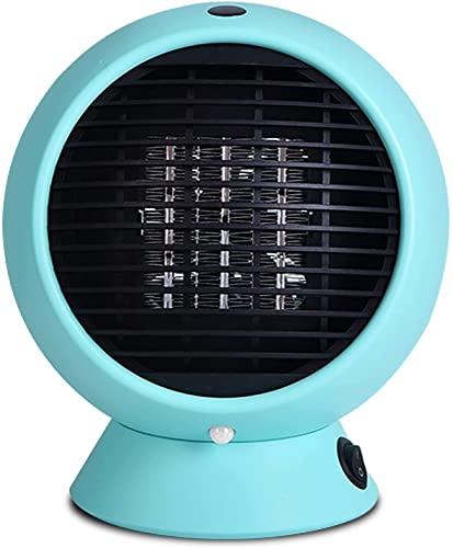 LLRZ Riscaldatore Mini Riscaldamento Portatile Mini Riscaldamento Riscaldamento rapido, Protezione da Tip- Over e surriscaldamento for Home Office 1000W Termoventilatore (Color : Blue)