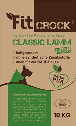 cdVet Natuurproducten Fit-Crock Classic Lamm Mini 10 kg - Hond - Voeding - juiste voeding - deelbaar - glutenvrij - bevordert vacht + huid - evenwichtige + hoogwaardige ingrediënten - koudgeperst -