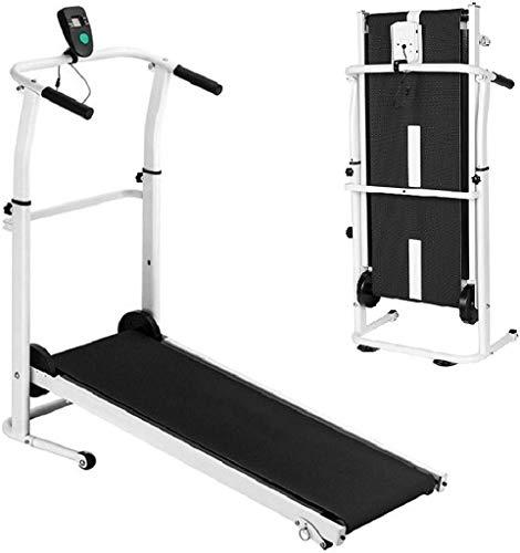 Cinta de correr plegable 2 en 1 para el hogar Cinta de correr manual portátil Máquina de ejercicio para correr Pantalla LED compacta Cinta de correr plegable para gimnasio en casa Ejercicio físico Tro
