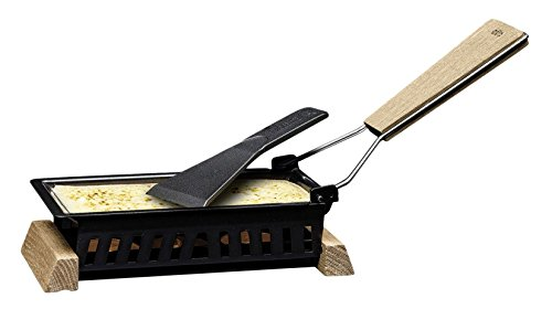 Cilio Käse-Party Raclette Formaggio, Holz, schwarz, 20 x 9 x 5 cm