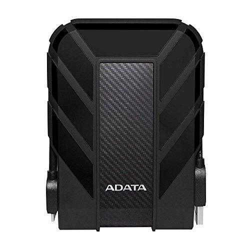 ADATA AHD710-2TU3-CBK - Disco Duro Externo Robusto de 2 TB, Alta Velocidad USB 3.0, Resistente al Agua, al Polvo y a Impactos de Grado Militar IP68, Color Negro
