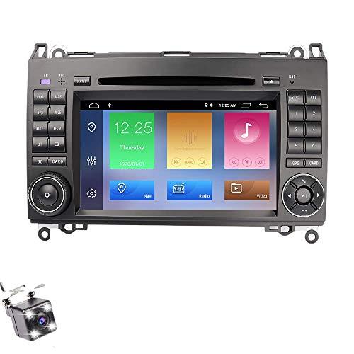 EUNAVI Android 10 Autoradio für Mercedes Benz B200 A B V Class Viano Vito Sprinter VW Crafter VW LT3 DVD Player Radio 7 Zoll HD Touchscreen GPS Navigation mit Bluetooth WiFi Lenkradsteuerung 2GB+32GB