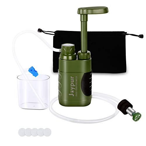 joypur Water Purifier Pump, 0.01 Micron 3-Stage Portable & Outdoor Water Filter for Camping, Hiking,...