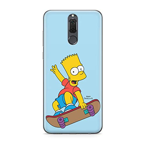 Finoo Handyhülle kompatibel für Huawei Mate 10 Lite - Hülle mit Motiv und Optimalen Schutz TPU Silikon Tasche Case Cover Schutzhülle - Bart Skateboard