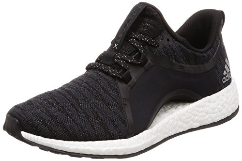 adidas Damen Pureboost X Fitnessschuhe, Grau (Carbon/Plamet/Negbas 000), 42 EU