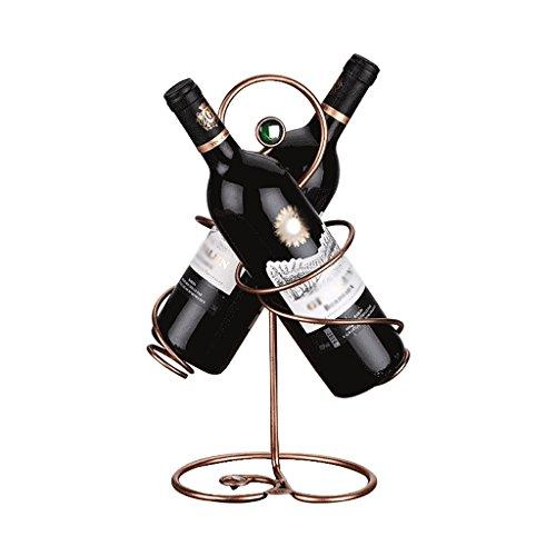 RSWLY Ornamentos del hogar del gabinete del Vino de la Sala de Estar del Estante del Vino del Acero Inoxidable, los 35 * 23 * 15cm