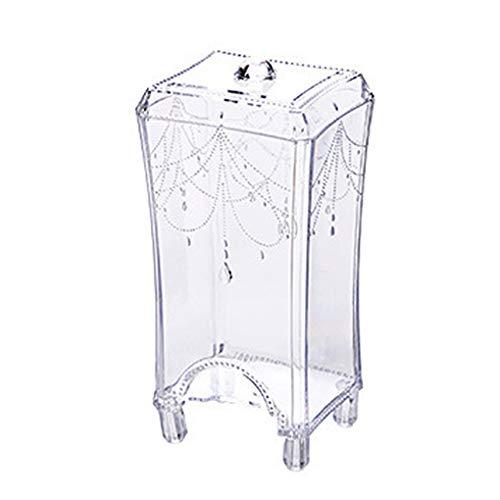 Morza Caja de Maquillaje Organizador claras de pie desmaquillante Toallita de algodón Titular dispensador envase de plástico