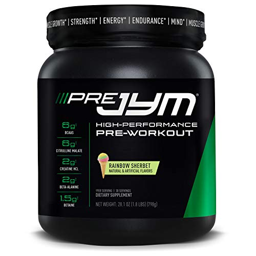 Jym Supplement Science - Pre Workout 796g | Muscle Growth | Strength | Energy | Endurance | Mind (Rainbow Sherbet)