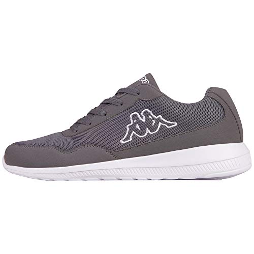 Kappa Unisex-Erwachsene Follow XL Sneaker, Grau (Anthra/White 1310), 44 EU
