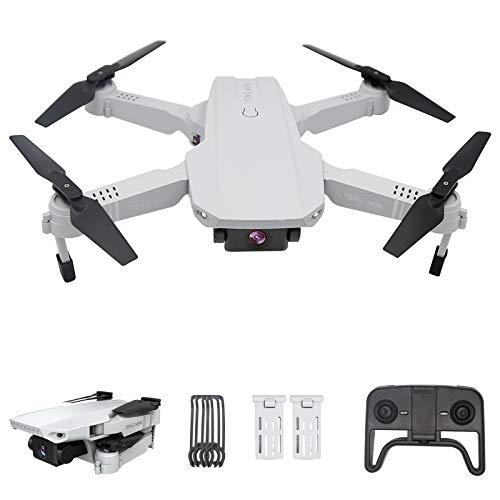 Drone con telecamera 4K HD, posizionamento del flusso ottico con due telecamere, altitudine, modalità senza testa, volo traiettoria, foto gestuale, quadricottero FPV WiFi , per principianti, bianco