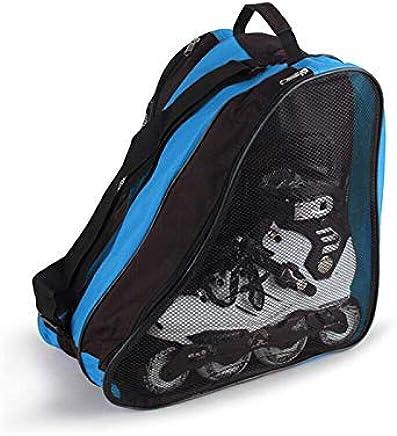 JeromKewin Schlittschuh Taschen Rollschuhe Tasche Rollerbladen Tragetasche mit Schultergurt f/ür Kinder Erwachsene Blau