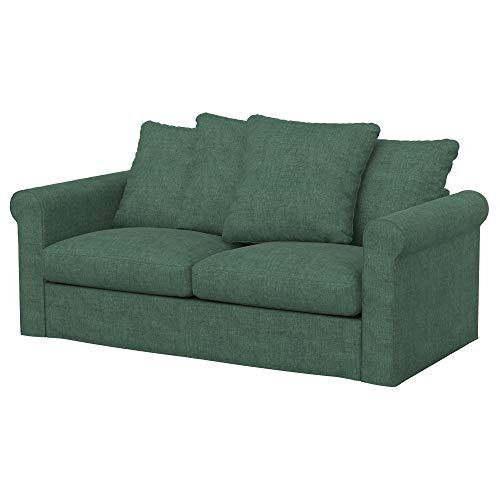 Soferia Funda de Repuesto para IKEA GRONLID sofá Cama de 2 plazas, Tela Softi Green, Verde