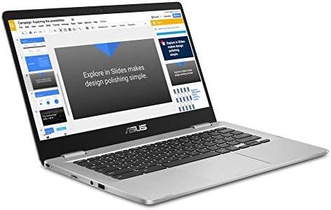 2019 ASUS Chromebook 14 FHD 1080P Display with Intel Dual Core Celeron Processor N3350, 4GB RAM, 32GB eMMc SSD Storage, Webcam, 802.11AC WiFi, Bluetooth, USB3.1 Type-C, Google Chrome OS-Silver