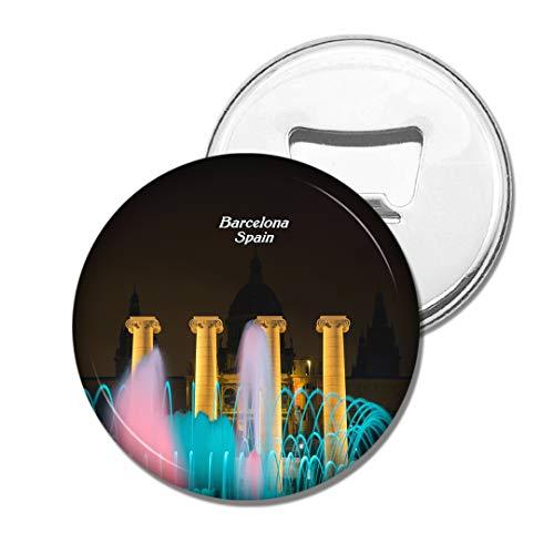 Weekino Spanien Der magische Brunnen Barcelona Bier Flaschenöffner Kühlschrank Magnet Metall Souvenir Reise Gift