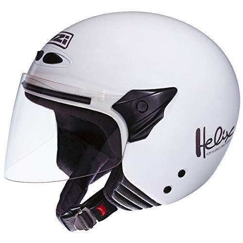 NZI 050137G001 Helix II Jr Casco de Moto, Color Blanco, Talla 52-53 (L)